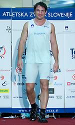 Olympic winner Primoz Kozmus at fashion show of new jerseys of Slovenian Athletic National Team, on October 28, 2008, in Mercator center Siska, Ljubljana, Slovenia. (Photo by Vid Ponikvar / Sportal Images).