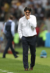 MOSCOW, July 11, 2018  Head coach Zlatko Dalic of Croatia is seen during the 2018 FIFA World Cup semi-final match between England and Croatia in Moscow, Russia, July 11, 2018. Croatia won 2-1 and advanced to the final. (Credit Image: © Cao Can/Xinhua via ZUMA Wire)