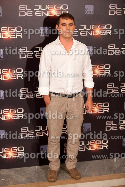 03.10.2013, Villa Magna Hotel, Madrid, ESP, Enders Game Photocall, im Bild Producer poses // during a photocall for the film Ender's Game, Villa Magna Hotel, Madrid, Spain on 2013/10/03. EXPA Pictures &copy; 2013, PhotoCredit: EXPA/ Alterphotos/ Ricky Blanco<br /> <br /> ***** ATTENTION - OUT OF ESP and SUI *****