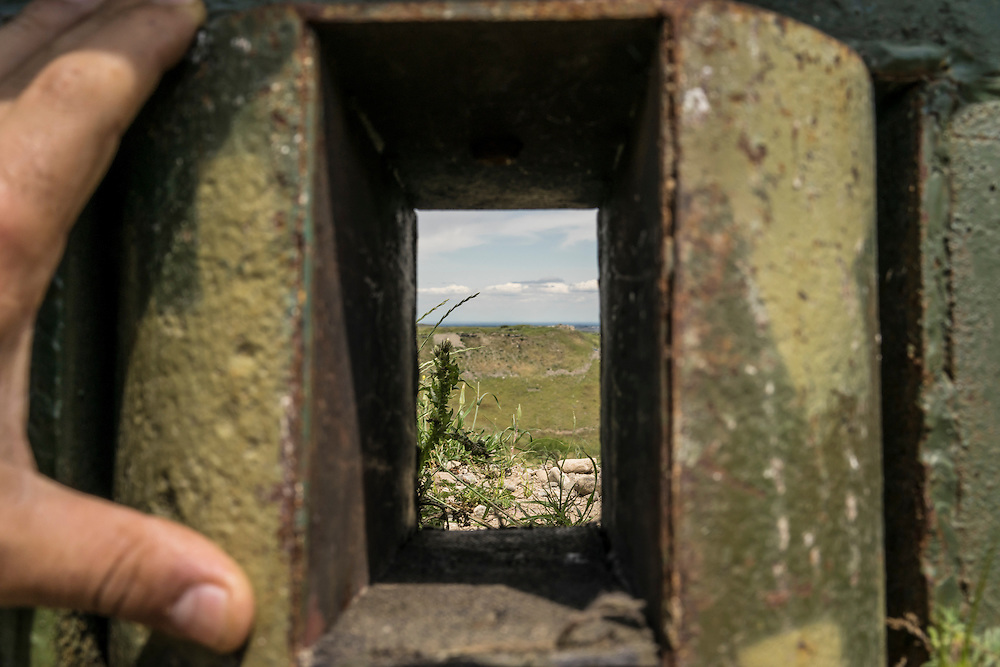 A view from the front-line position of Nagorno-Karabakh armed forces toward Azerbaijani lines on Sunday, May 8, 2016 near Talish, Nagorno-Karabakh. It was estimated that Azerbaijani military forces were stationed approximately 100 meters away.