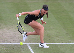 Johanna Konta during her semi final match with Donna Vekic during day six of the Nature Valley Open at Nottingham Tennis Centre.