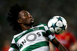 August 15, 2017 - Lisbon, Portugal - Sporting's forward Gelson Martins in action during Champions League 2017/18, first playoff round match between Sporting CP vs FC Steaua Bucuresti, in Lisbon, on August 15, 2017. (Credit Image: © Carlos Palma/NurPhoto via ZUMA Press)