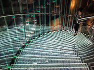 Glass stairs at the New York Historical Society