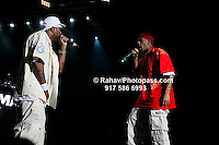 Method Man and Redman (red head gear) at Nikon at Jones Beach Amphitheater for 'Rock The Bells' 2008 on August 3, 2008. . Rock The Bells