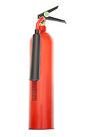 Fire extinguisher against white background