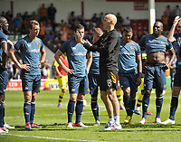 Football Pre-season friendly Walsall Vs Wolves<br />Manager Stale Solbakken speaks to the players at half-time
