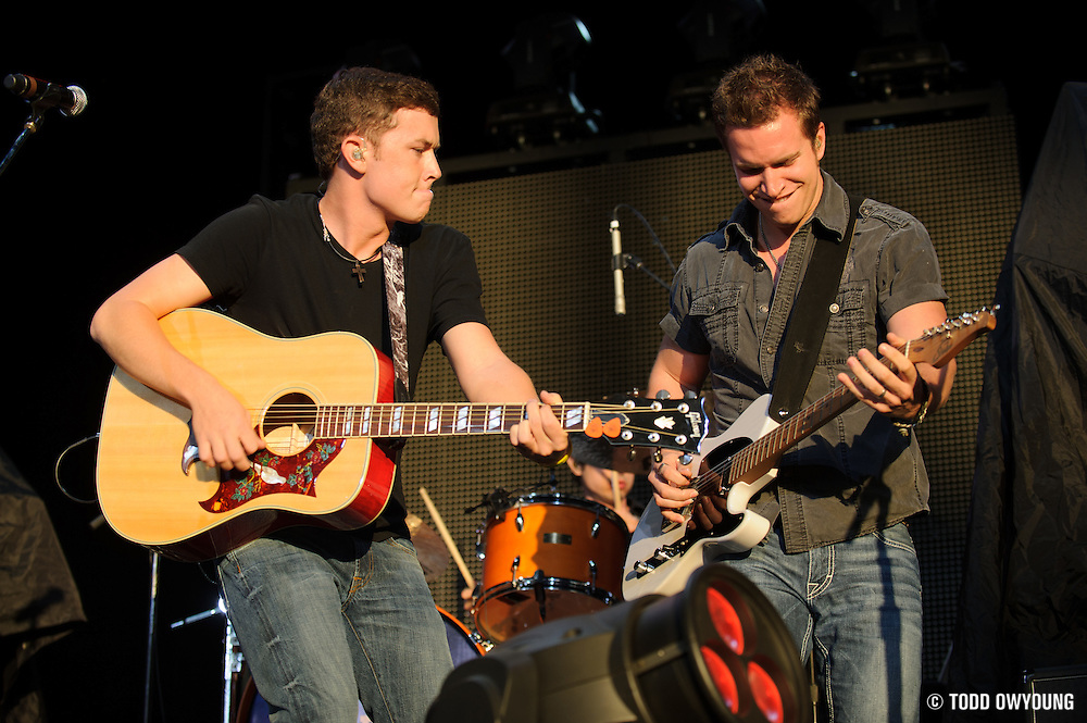 American Idol season 10 winner Scotty McCreery opening for Brad Paisley on  his 2012 summer tour opener at the Verizon Wireless Amphitheater in St. Louis on May 18, 2012.