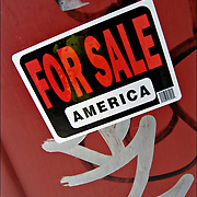 For Sale America. Is this a political statement about the United State economy today?