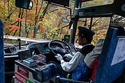Bus ride. Nikko National Park, Tochigi Prefecture, Japan.