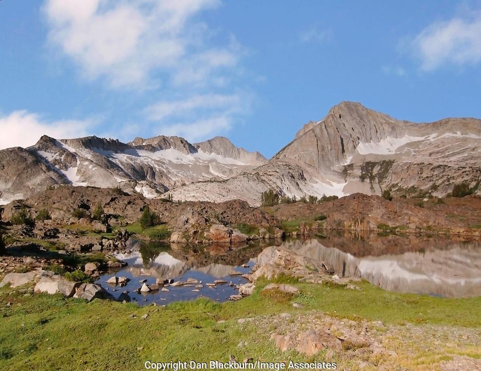 Morning at Mt. Conness & North Peak, Eastern Sierra, California