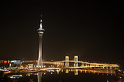 The Macau tower stands in Macau, China, on February 20, 2008. Photo by Lucas Schifres