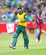 Reeza Hendricks , South Africa during the 2015 KFC T20 International Series cricket match between South Africa and West Indies at the Kingsmead Stadium in Durban on the 14th of January 2015<br /> <br /> ©Sabelo Mngoma/BackpagePix