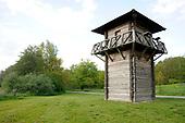 Replica van een Romeinse wachttoren bij Bunnik