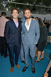 Left to right, SAM CLAFLIN and DOUGLAS BOOTH at the Glamour Women of The Year Awards held in Berkeley Square, London on 2nd June 2015.
