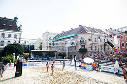 FIVB  Beach Volleyball World Tour Ljubljana 2018, on August 5, 2018 in Kongresni trg, Ljubljana, Slovenia. Photo by Ziga Zupan / Sportida
