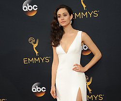 Emmy Rossum at the 68th Annual Primetime Emmy Awards held at the Microsoft Theater in Los Angeles, USA on September 18, 2016.