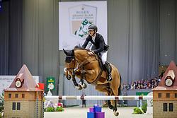 DEVOS Pieter (BEL), Espoir<br /> Genf - CHI Geneve Rolex Grand Slam 2019<br /> ROLEX Top 10 Finale<br /> 19th Rolex IJRC Top 10 Final<br /> International Jumping Competition 1m60<br /> Table A: Two Rounds, 1st and 2nd Round Against the Clock<br /> 13. Dezember 2019<br /> © www.sportfotos-lafrentz.de/Stefan Lafrentz