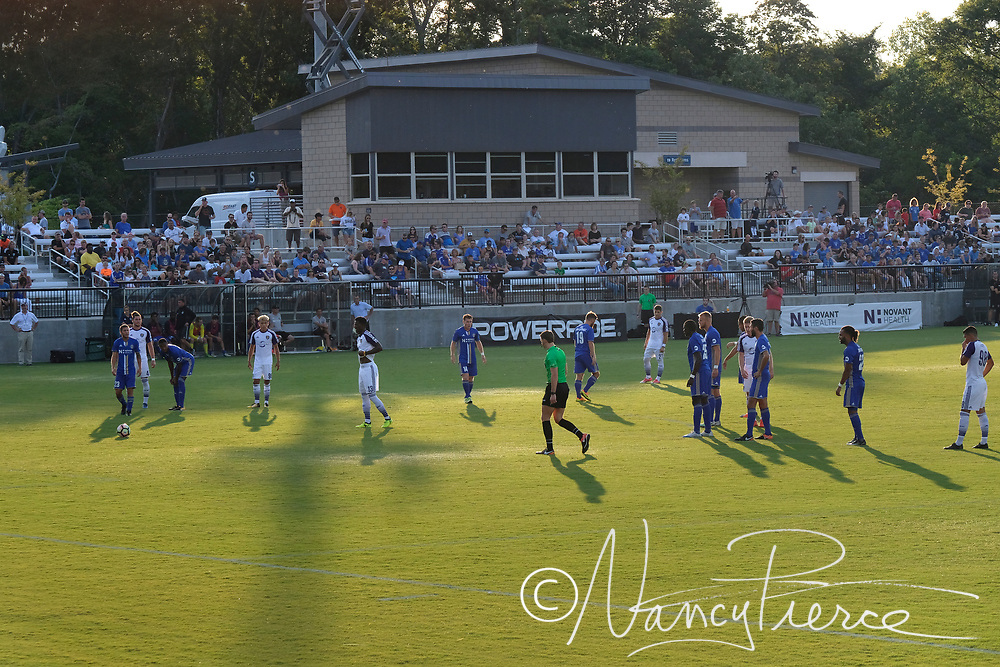 Matthews Sportsplex.  These are fans and the Charlotte Independence USL team playing in a regular season game against Orlando.