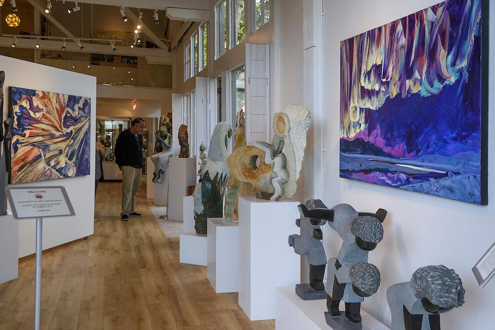 Canada, British Columbia, Vancouver , gallery in Granville island