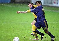 Fotball<br /> Royal League<br /> Åråsen Stadion 07.12.06<br /> Foto: Kasper Wikestad<br /> <br /> Lillestrøm LSK - Brøndby<br /> David Williams i duell med Bjørn Helge Riise