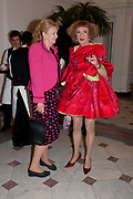 INGEBORG SCOTT; GRAYSON PERRY, Royal Academy Schools Annual dinner and Auction 2012. Royal Academy. Burlington Gdns. London. 20 March 2012.