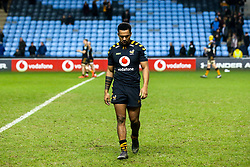 Zach Kibirige of Wasps cuts a dejected figure - Mandatory by-line: Robbie Stephenson/JMP - 05/01/2020 - RUGBY - Ricoh Arena - Coventry, England - Wasps v Northampton Saints - Gallagher Premiership Rugby