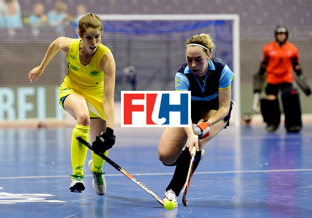 BERLIN - Indoor Hockey World Cup<br /> Women: Ukraine - Australia<br /> foto: GRAY Kyah.<br /> WORLDSPORTPICS COPYRIGHT FRANK UIJLENBROEK