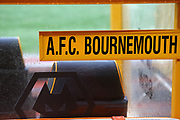 The Bournemouth bench during the Premier League match between Wolverhampton Wanderers and Bournemouth at Molineux, Wolverhampton, England on 15 December 2018.