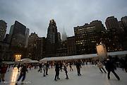 Ice skating in Bryant Park, New York
