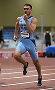 Mar 3, 3017; Albuquerque, NM, USA; Michael DiManbro of Rhode Island runs 6.98 for the top time in the heptathlon 60m during the USA Indoor Track and Field championships at the Albuquerque Convention Center.
