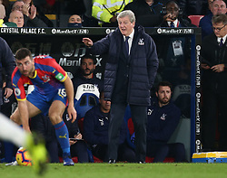 Crystal Palace manager Roy Hodgson gestures on the touchline, during the Premier League match at Selhurst Park, south east London.