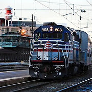 VRE arrives at Union Station.