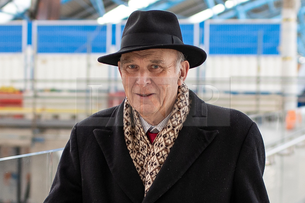 © Licensed to London News Pictures. 20/12/2018. London, UK. Party leader of the Liberal Democrats Sir Vince Cable seen walking in Waterloo Train Station today. Photo credit : Tom Nicholson/LNP