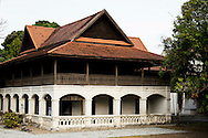 The Lanna Architecture Center - the purpose of the center is to conduct research and collect information about Lanna art and architecture, with the intention of preserving skills and techniques that would otherwise be lost to time.  The facility is housed in a two storey teak building. The ground floor has columns with semi-arches, and is made of brick covered with stucco.  The home was known as Khum Jao Bureeratana  or Maha Intra -  and was once the house of a Chiang Mai royal.  There are occasional exhibitions about Thai northern architecture here.