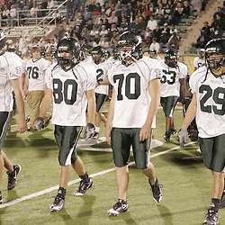 07 November 2008: Darin Moore, Ponchatoula Green Wave LB Corey Morse (#80), Brandon Leboeuf, Ben Schaff The Ponchatoula Green Wave defeated District 7-5A rival the Hammond Tornados 34-13 at Strawberry Stadium in Hammond, LA . The Green Wave with the win clinched a spot in the 2008 playoffs.
