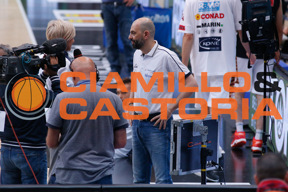 Maurizio Buscaglia<br /> Dolomiti Energia Aquila Basket Trento - Umana Reyer Venezia <br /> Lega Basket Serie A 2016/17 Finali Gara 03<br /> Trento, 14/06/2017<br /> Foto Ciamillo-Castoria / M. Brondi