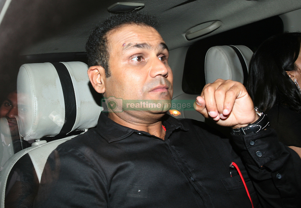 MUMBAI, INDIA – NOVEMBER 18: Virender Sehwag arrives for Sachin Tendulkar's farewell party in Mumbai.(Photo by Milind Shelte/India Today Group) *** Local Caption *** Virender Sehwag (Credit Image: © India Today/ZUMAPRESS.com)