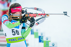 Urska Poje of Slovenia during Slovenian National Cup in Biathlon, on December 30, 2017 in Rudno polje, Pokljuka, Slovenia. Photo by Ziga Zupan / Sportida