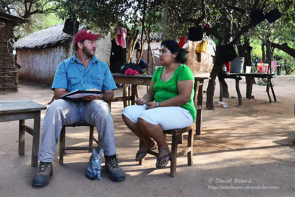 Interviewing water well recipient