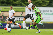 Forest Green Rovers Keanu Marsh-Brown (7) misses a chance during the Vanarama National League match between Forest Green Rovers and Bromley FC at the New Lawn, Forest Green, United Kingdom on 17 September 2016. Photo by Shane Healey.