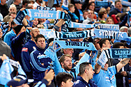 April 29, 2017: Sydney FC crowd at Semi Final one of the 2016/17 Hyundai A-League match, between Sydney FC and Perth Glory, played at Allianz Stadium in Sydney.