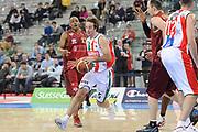 DESCRIZIONE : Torino Coppa Italia Final Eight 2012 Quarti Di Finale Scavolini Siviglia Pesaro Umana Venezia<br /> GIOCATORE : Daniele Cavaliero<br /> CATEGORIA : palleggio penetrazione blocco<br /> SQUADRA : Scavolini Siviglia Pesaro<br /> EVENTO : Suisse Gas Basket Coppa Italia Final Eight 2012<br /> GARA : Scavolini Siviglia Pesaro Umana Venezia<br /> DATA : 17/02/2012<br /> SPORT : Pallacanestro<br /> AUTORE : Agenzia Ciamillo-Castoria/C.De Massis<br /> Galleria : Final Eight Coppa Italia 2012<br /> Fotonotizia : Torino Coppa Italia Final Eight 2012 Quarti Di Finale Scavolini Siviglia Pesaro Umana Venezia<br /> Predefinita :