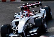 Jenson Button is one of the drivers in a demonstration event through central London.