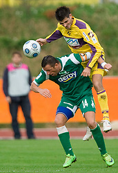 Sebastjan Cimirotic of Olimpija and Miral Samardzic of Maribor at 13th Round of Prva Liga football match between NK Olimpija and Maribor, on October 17, 2009, in ZAK Stadium, Ljubljana. Maribor won 1:0. (Photo by Vid Ponikvar / Sportida)
