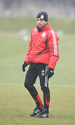 LIVERPOOL, ENGLAND - Friday, March 28, 2008: Liverpool's coach Pako De Miguel training at Melwood ahead of the Merseyside Derby match against Everton. (Photo by David Rawcliffe/Propaganda)