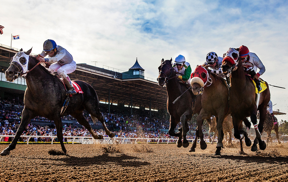 Sahara Sky, ridden by Joel Rosario wins the San Carlos Stake Stakes (G2) at Santa Anita Park on March 8, 2014 in Arcadia, California. (Photo by Evers/Eclipse Sportswire)