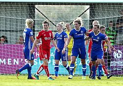 Hannah Blundell of Chelsea Ladies celebrates with teammates after scoring a goal - Mandatory by-line: Robbie Stephenson/JMP - 31/05/2017 - FOOTBALL - Stoke Gifford Stadium - Bristol, England - Bristol City Women v Chelsea Ladies - FA Women's Super League Spring Series