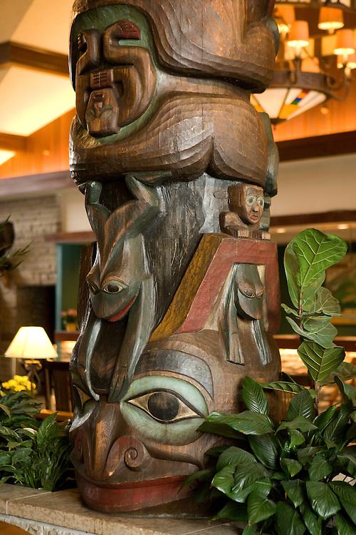 Lobby of the Fairmont Jasper Park Lodge, Jasper National Park, Alberta, Canada