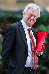 © Licensed to London News Pictures. 27/02/2018. London, UK. Secretary of State for Exiting the European Union David Davis on Downing Street. Photo credit: Rob Pinney/LNP