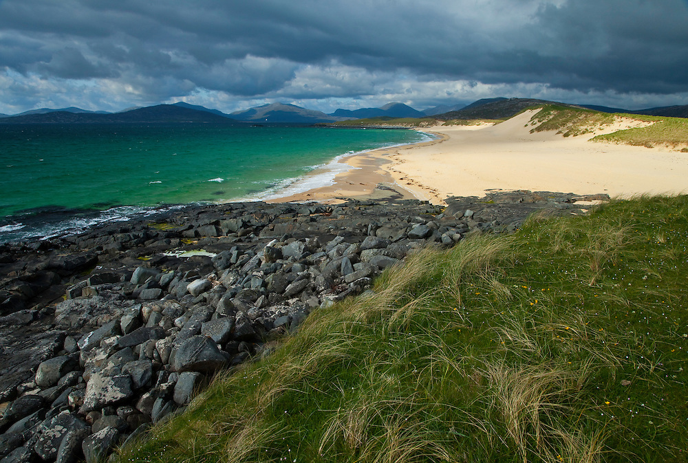Playa de Scarista Beach. Sound of Taransay. South Harris Island. Outer Hebrides. Scotland, UK